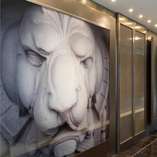 B&B Italia - Artwork corridoio Katara Suite - Hotel Gallia Milano - By Studio Marco Piva