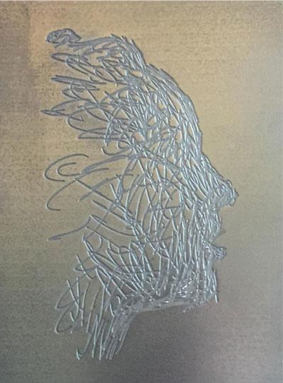 Legno finitura argento embossed